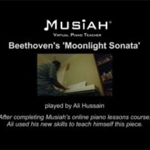 Musiah Student Plays Moonlight Sonata